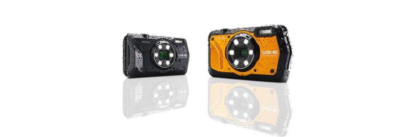 Ricoh WG-6 (left to right): black, orange