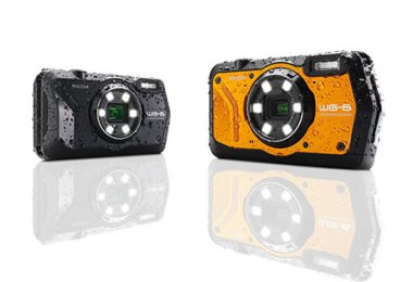 Ricoh WG-6 (left to right): black, orange