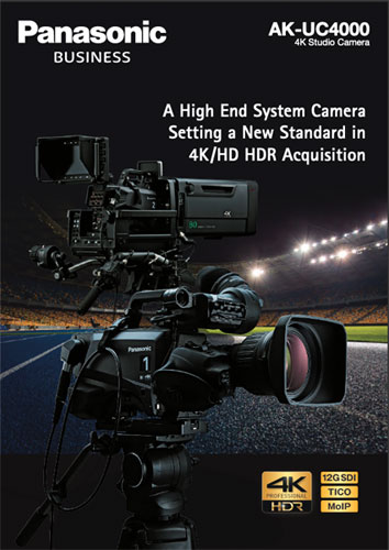 Panasonic AK-UC4000 4K Studio Camera (Brochure)