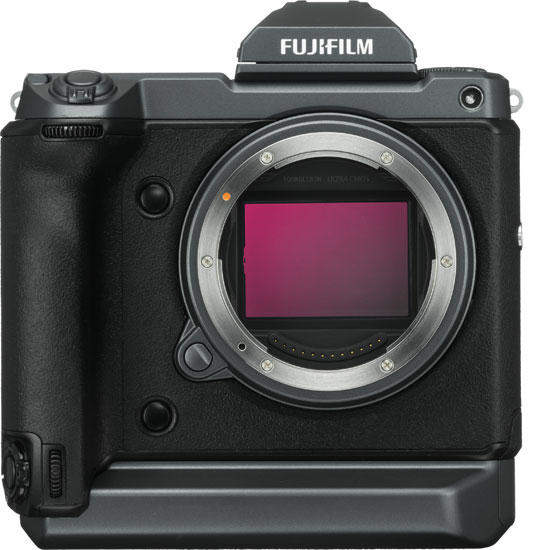 """Fujifilm GFX100: """"The new sensor, specifically developed for this camera, measures 55mm diagonally and boasts an effective pixel count of approx. 102 million. When combined with the fourth generation """"X-Processor 4"""" processor, it delivers the world's highest level of image quality with exceptional color reproduction unique to FUJIFILM and the ultra sharp FUJINON GF lenses."""""""
