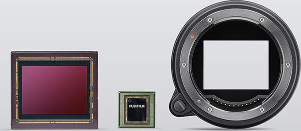 Fujifilm GFX100 (left to right): Sensor, Processor, Mount