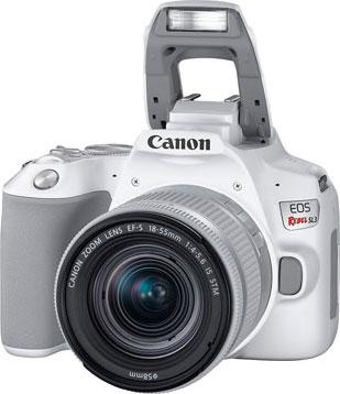 Canon EOS Rebel SL3, White: Flash