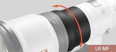 Sony FE 600mm F4 GM OSS: Linear Response MF (manual focus)