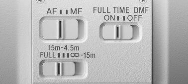 Sony FE 600mm F4 GM OSS: Full-Time DMF switch