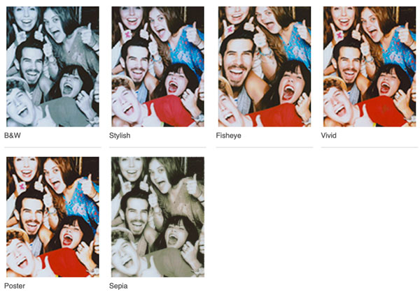Fujifilm INSTAX MINI LIPLAY: Six Fun Filters: Images Courtesy of Fujifilm