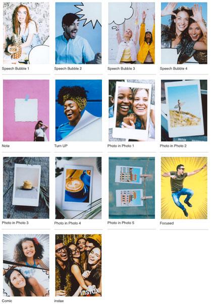 Fujifilm INSTAX MINI LIPLAY: 30 Fun Frames in all: Images Courtesy of Fujifilm