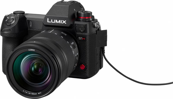 Panasonic LUMIX S1H camera with a head-phone jack