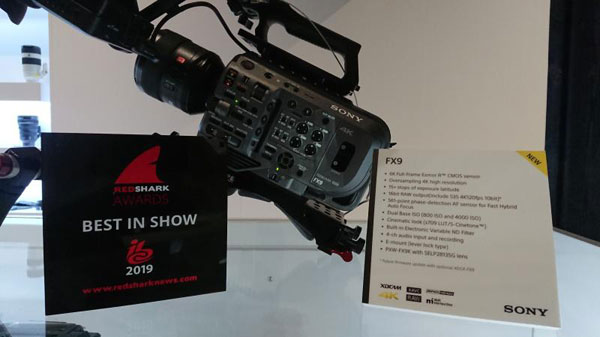 Sony PXW-FX9 won the RedShark Best in Show award for the #FX9 at this year's IBC