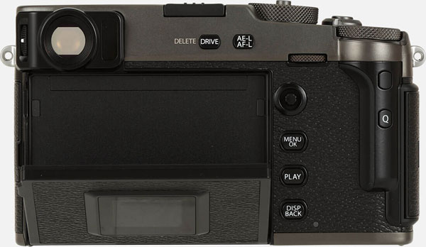 Fujifilm X-Pro3 (DR Black): Hidden Touchscreen opens