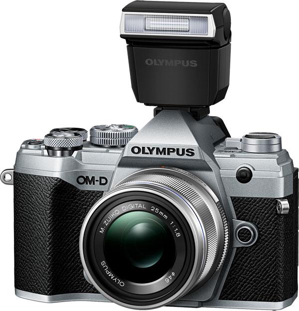 Olympus OM-D E-M5 Mark III, silver (external flash FL-LM3 included)