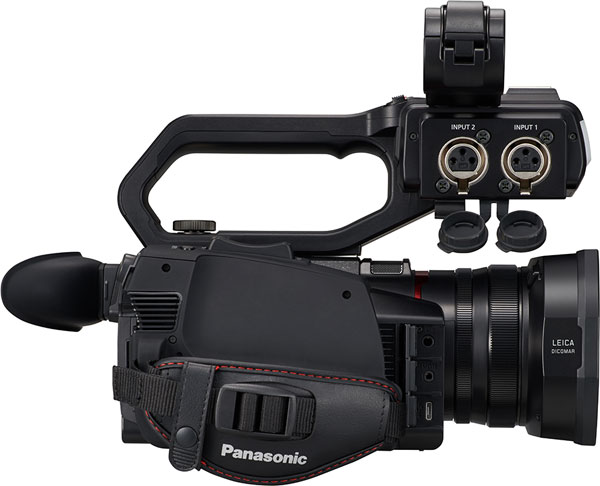 Panasonic AG-CX10: 2 x XLR audio inputs
