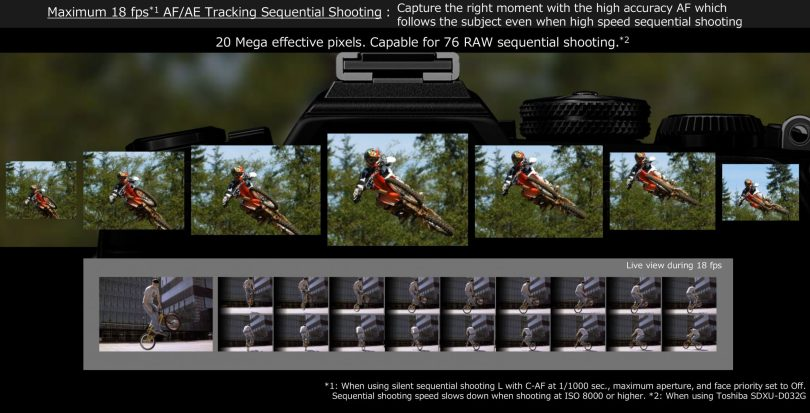 Olympus OM-D E-M1 Mark III: Images Courtesy of Olympus: AF/AE tracking is possible at maximum 18 fps high-speed sequential shooting
