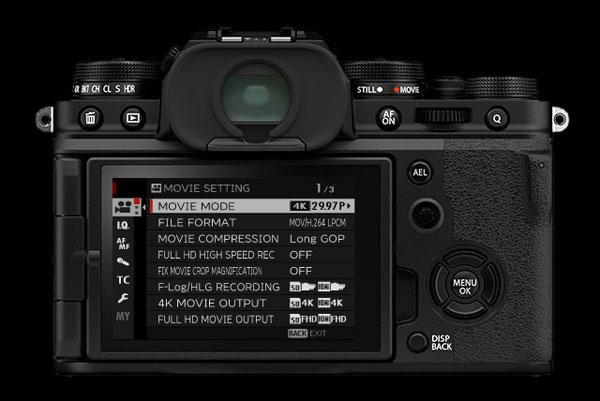 FUJIFILM X-T4, black: Movie Mode