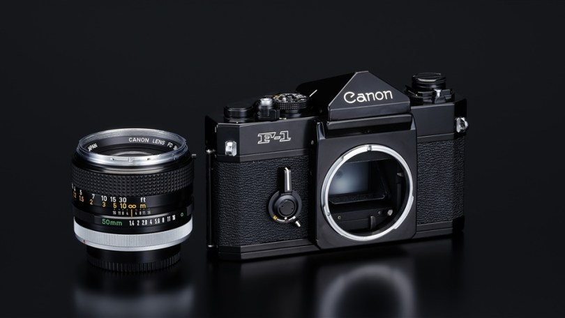 Canon F-1 35mm SLR with the FD mount