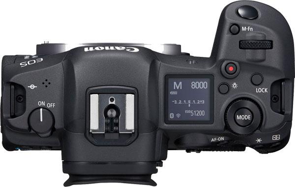 Canon EOS R5 Top View