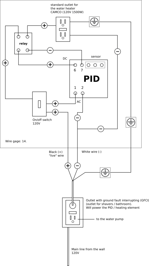 small resolution of  wiring for the switch is somewhat misleading since the live wire will come in on one screw while the outgoing wires relay pid will be plugged on