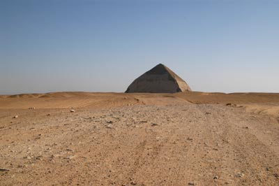 approaching the bent pyramid