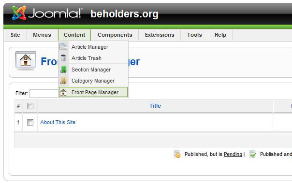 In Joomla How To Publish Content  PHP and ASP