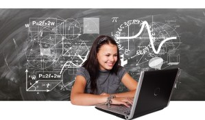 engineering student and laptop