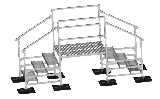 Rooftop Crossover Stairs For Rooftop Platforms & Walkways