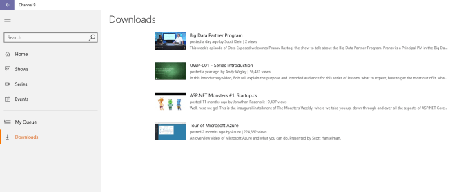 See all your downloaded videos