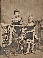 young girls in a carnival act