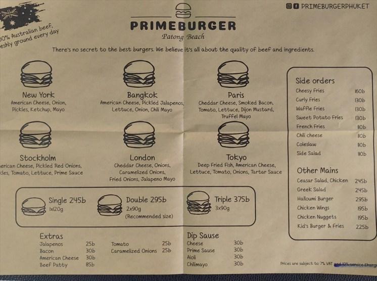 プライムバーガー パトンビーチ ( PRIME BURGER PATONG BEACH ) ハンバーガー店 / パトンビーチのレストラン