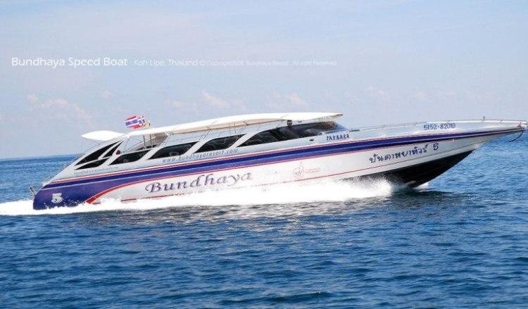 プーケット→ピピ島行きのスピードボート / Bundhayaを追加しました。