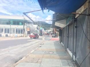 2020年10月26日のプーケット島・パトンビーチの街並み