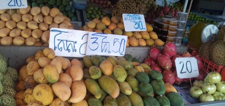 プーケット島・Muangthong-Kaokard Roadのローカルマーケット