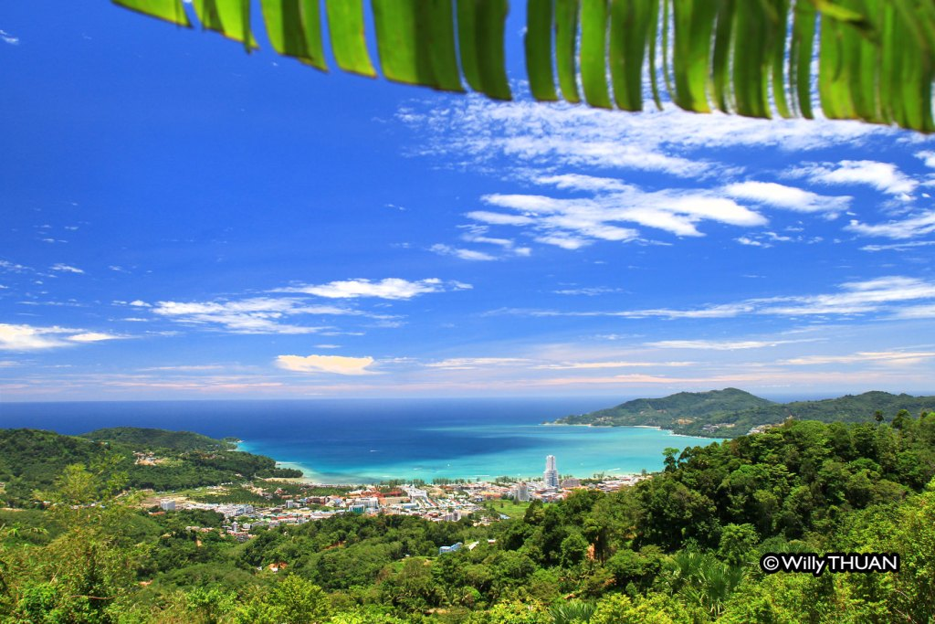 Patong Beach seen from Radar Hill