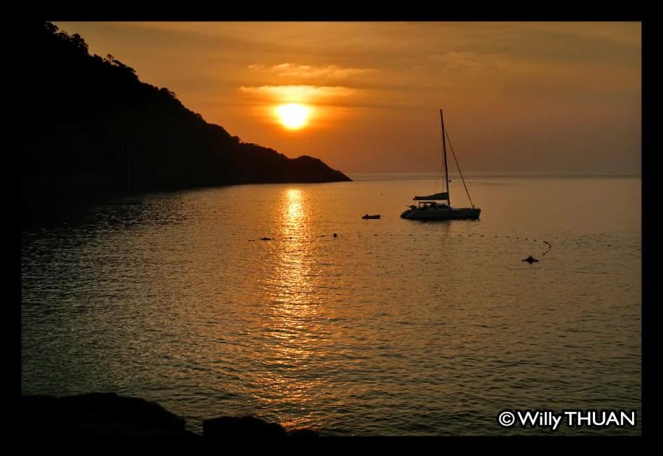 Sunset on Racha Island