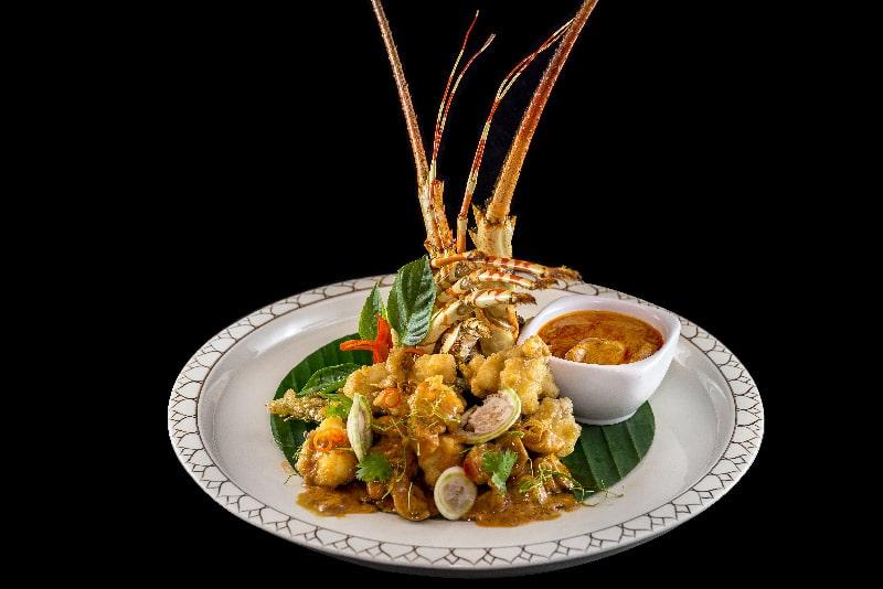 choo chee curry lobster, ฉู่ฉี่กุ้งล็อบเตอร์, famous thai food