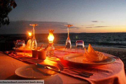 romantic beach dinner, dining in phuket