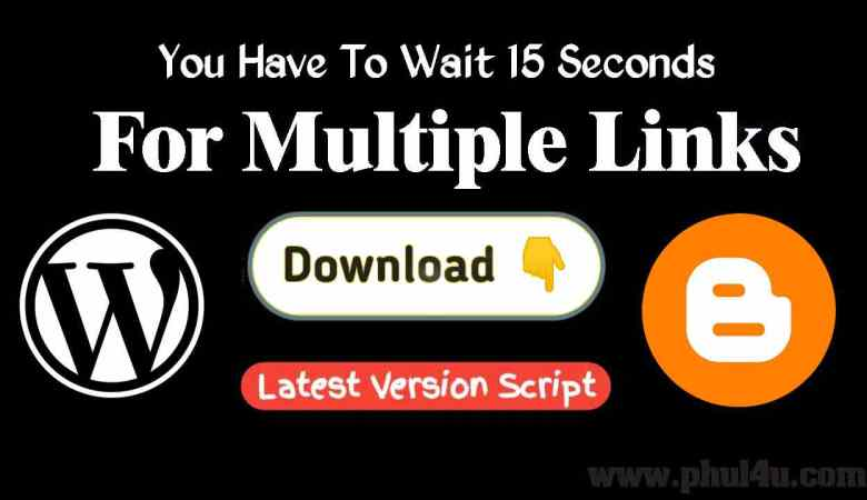 How To Add Download Timer For Multiple Links in Blogger & WordPress