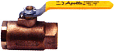 Apollo 8010301 12 Bronze UL Listed LP Gas ShutOff