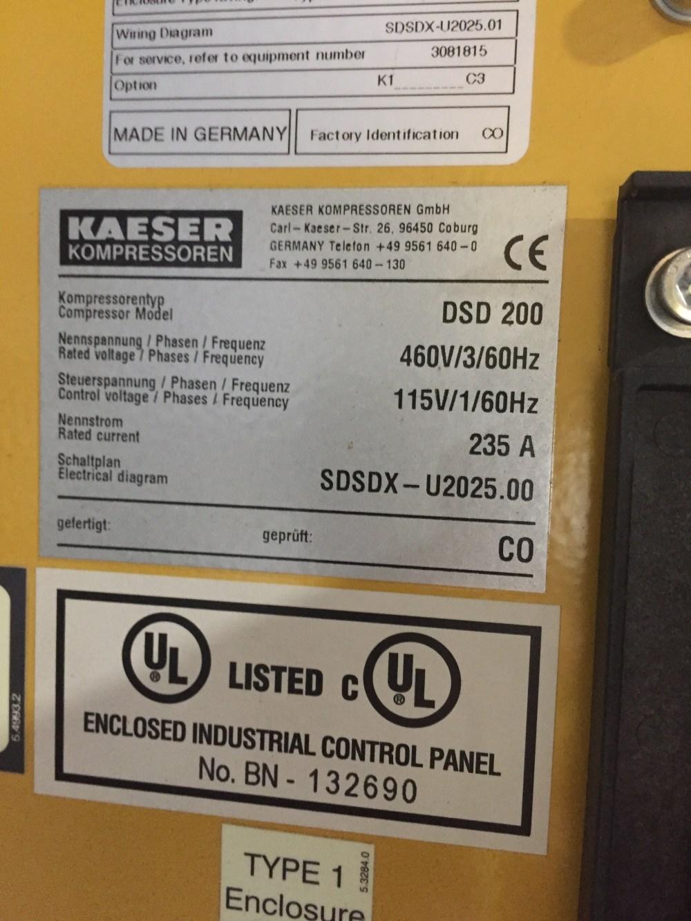 medium resolution of 636 cfm kaeser compressors rotary screw compressor
