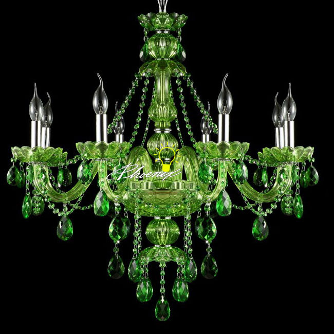 Modern Jade Green Crystal Chandelier 8943