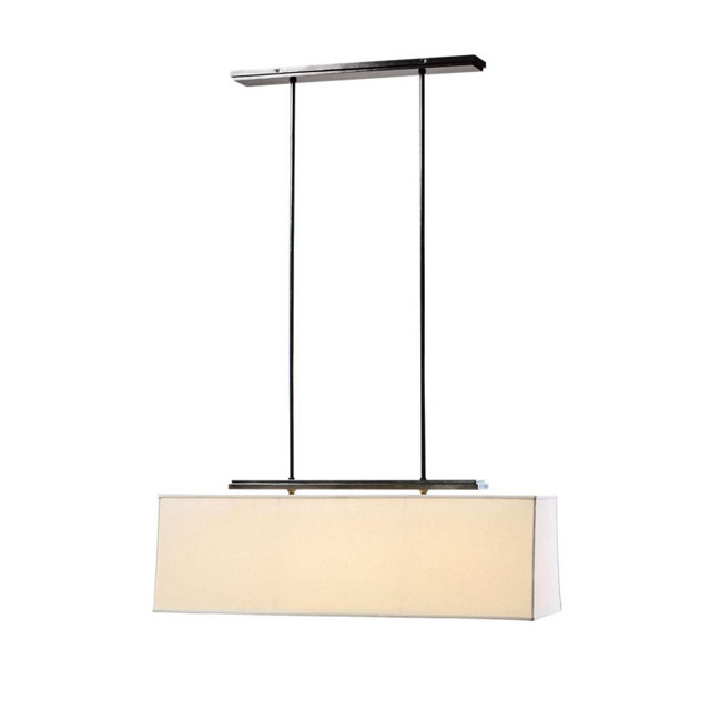 North Flax Shade Rectangle Chandelier 9929