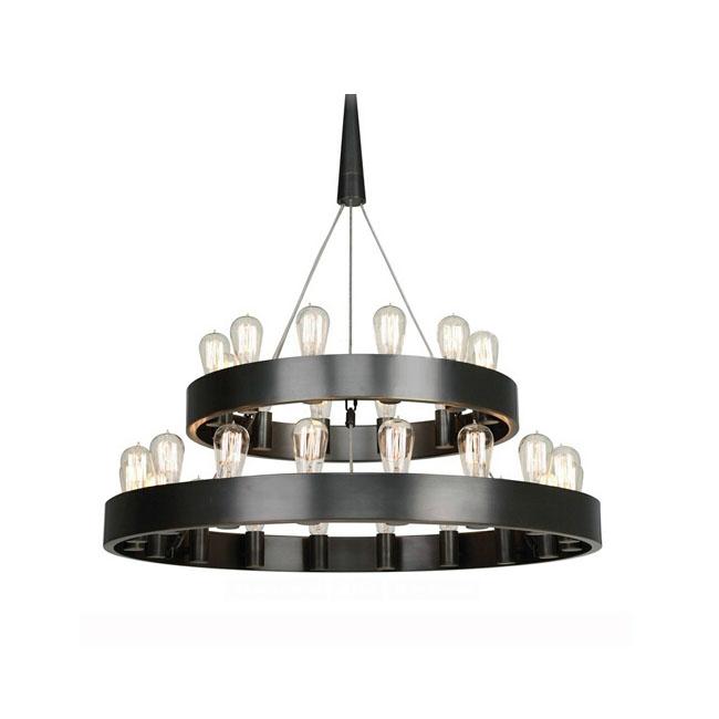 Candeliara Iron Ring And 12 18 Edison Bulbs Chandelier 11550