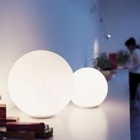 Modern White Depolished Glass Ball Floor Lamp 9183 ...