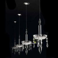 Modern Single Crystal Candle Pendant Lighting 9049 ...