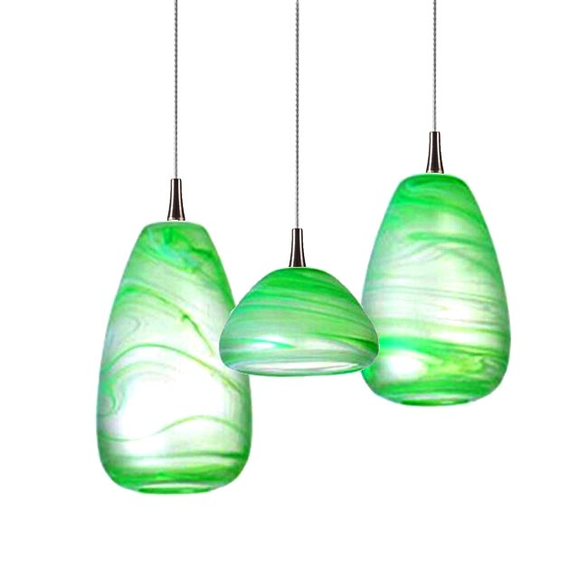 Modern Green Blown Glass Shade Pendant Lighting 11863