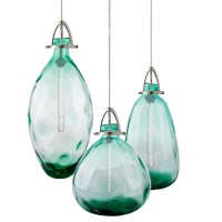 Modern Country Blown Glass Bottle Pendant Lighting 11878 ...