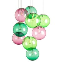 Model Colorful Glass Orb Pendant Lighting 12544 : Free ...
