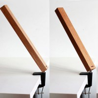 Modern Wood Squared Timber LED Table Lamp 10789 : Free ...