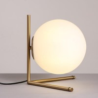 Modern Simple Glass Orb Table Lamp 12471 : Browse Project