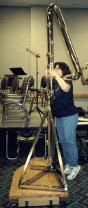 Phyllis playing double contrabass flute – Phyllis Avidan Louke  Double Contrabass Flute Case