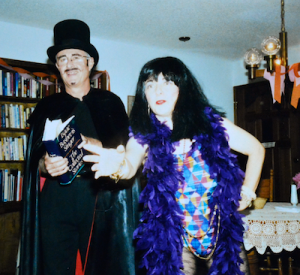 Alan and Phyllis during one of the many magic/storytelling shows that they performed together.