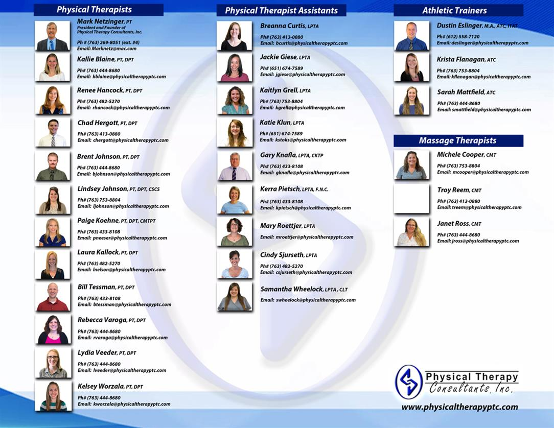 Physical Therapy Consultants Inc Staff
